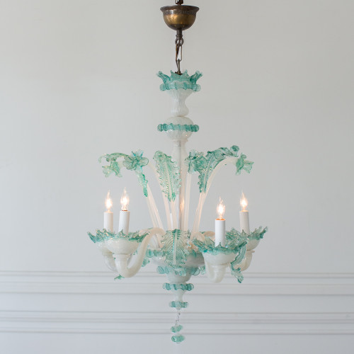 Vintage Light Blue Murano Chandelier CHVN25071