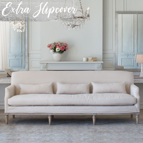 Eloquence® Extra Slipcover in Harvest Linen for Louis Cannes Sofa