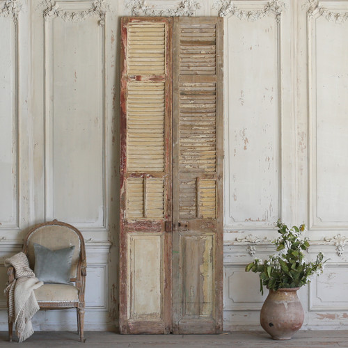 Pair of Vintage Wooden Shutters AEVM78064