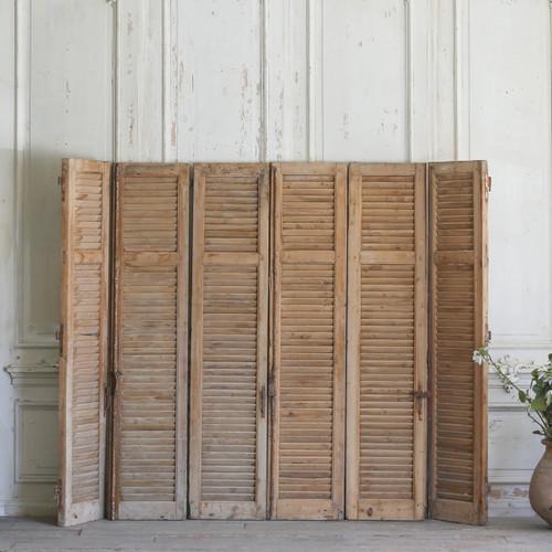 Set of Six Vintage Wooden Shutters AEVM78035
