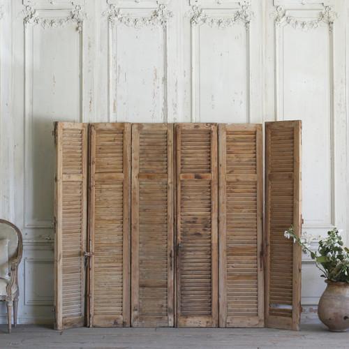 Set of Six Vintage Wooden Shutters AEVM78036