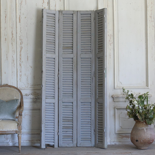 Set of Four Vintage Blue-Grey Shutters AEVM78039
