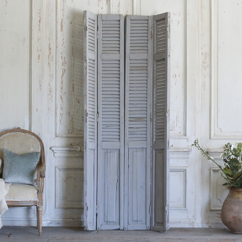 Set of Four Vintage Blue-Grey Shutters AEVM78041