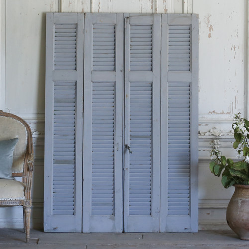 Set of Four Vintage Blue-Grey Shutters AEVM78076