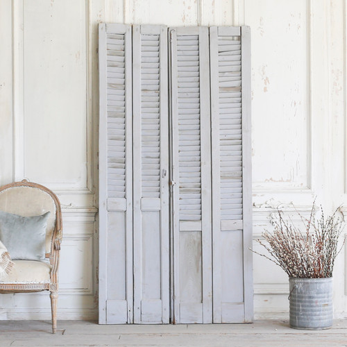 Set of Four Vintage  Blue-Grey Shutters AEVM78093