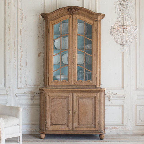 Antique Dining Cabinet with Glass Doors CBVN26002