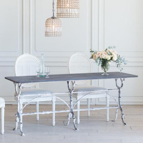 Antique Long Whitewash Bistro Table TVN26023