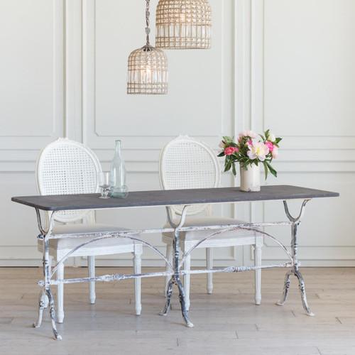 Antique Long Whitewash Bistro Table TVN26024