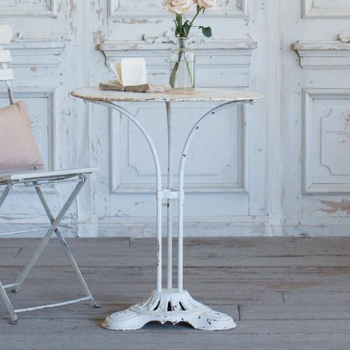 Antique White Café Table TVN26025