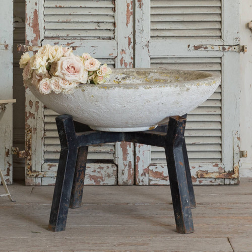Vintage Cement Planter and Stand GDVN26028-4