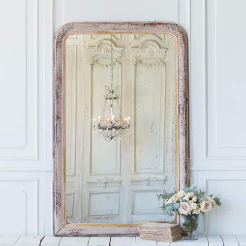 Antique Red Louis Philippe Mirror MVN26031