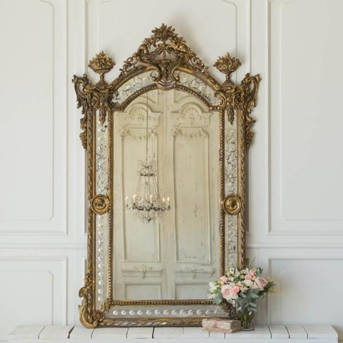 Antique Gilt Partitioned Mirror MVN26043