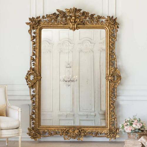 Grande Antique Rococo Mirror MVN26059