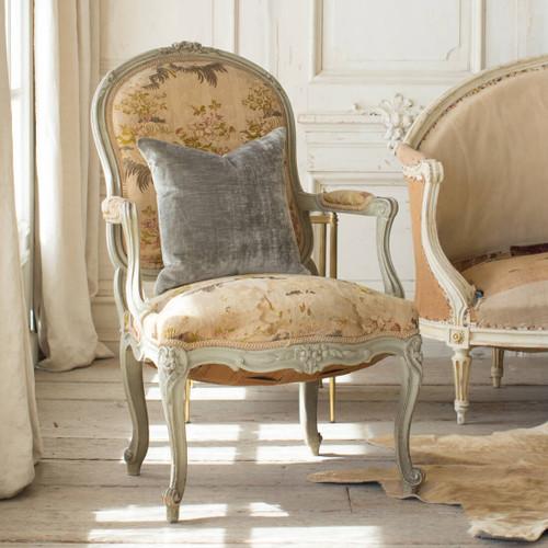 Antique Powder Blue Louis XV Armchair AVN26070