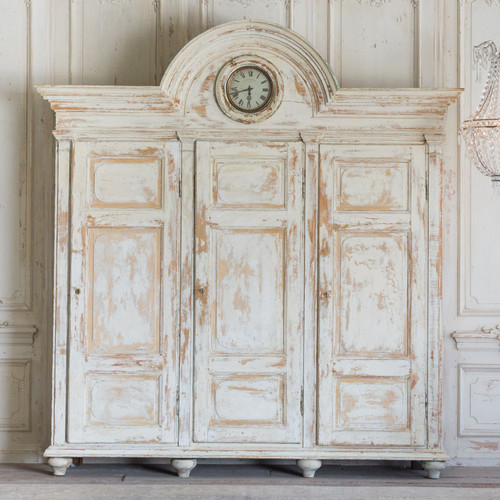 Antique Armoire with Clock ARVN26080
