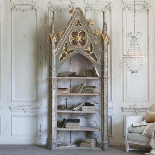 Antique Italian Neo Gothic Bookcase BKVP22006