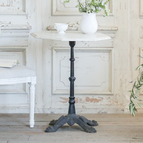 Antique Bistro Table with Octagon Marble Top TVP22010-4