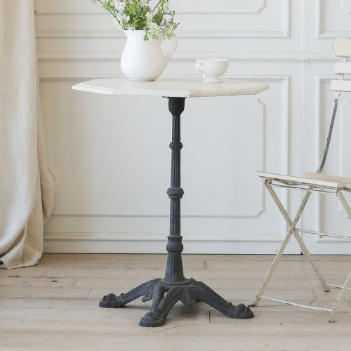 Antique Bistro Table with Octagon Marble Top TVP22010-5