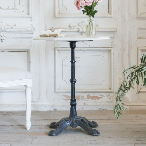 Antique Bistro Table with Octagon Marble Top TVP22010-6