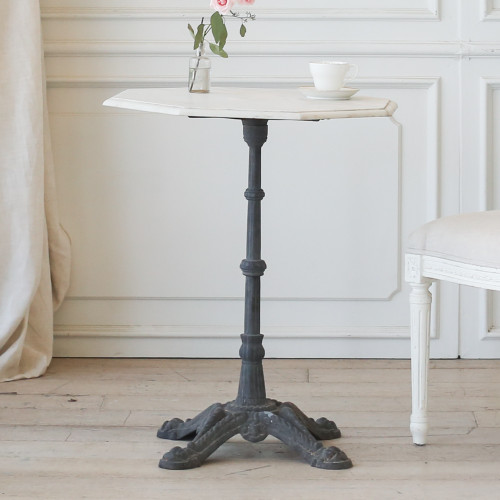 Antique Bistro Table with Octagon Marble Top TVP22010-7