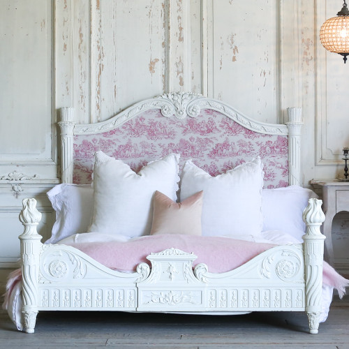 Antique Napoleon III Plaster White Bed BDVP22041