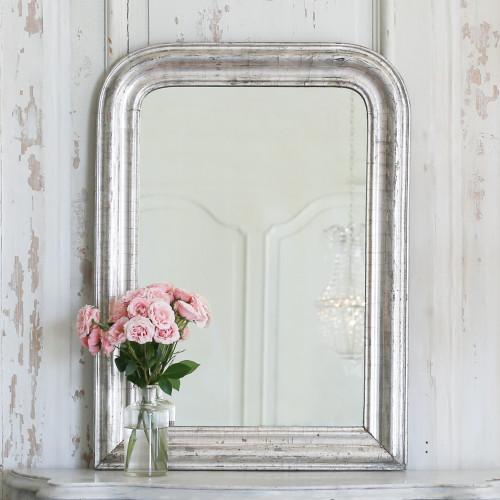 Petite Antique Louis Philippe Silver Mirror MVP22067-3