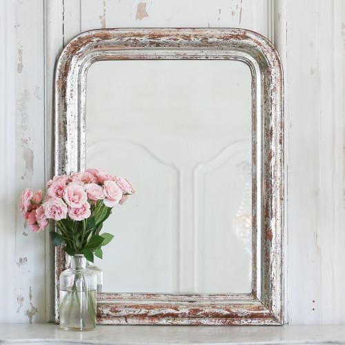 Petite Antique Louis Philippe Silver Mirror MVP22067-4