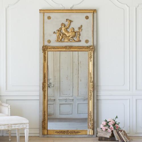 Antique Faun Trumeau Mirror MVP22079