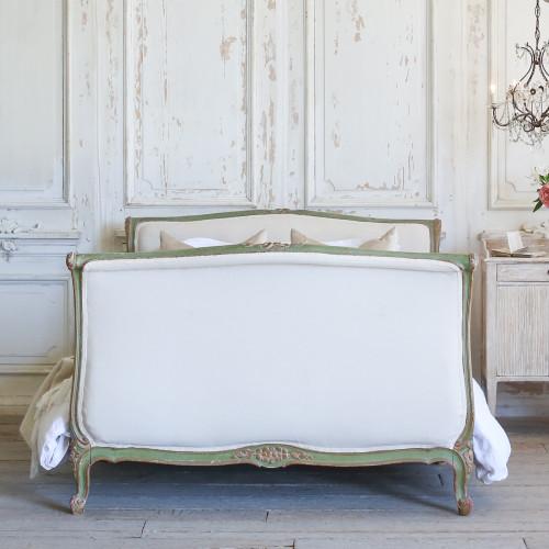 Petite Antique Green Louis XV Bed BDVP22094
