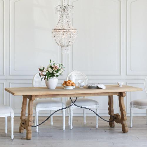 Antique Spanish Trestle Dining Table TDVN27016