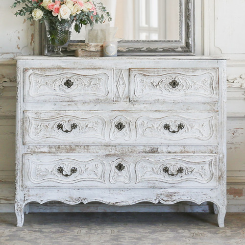 Antique Whitewashed Commode CMVN27032