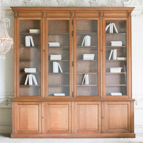 Antique Oak Library Cabinet from Lyon CBVN27054