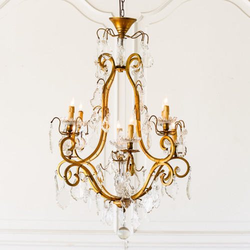 Tall Antique Golden Chandelier CHVP22052