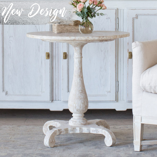 Eloquence® Liv Side Table in Swedish White Finish