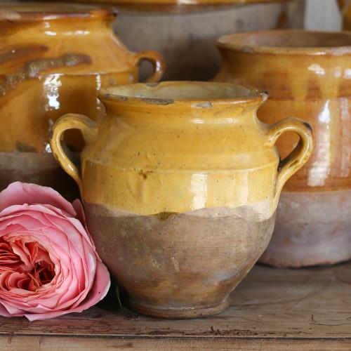 Antique French Confit Pots OBVP06095