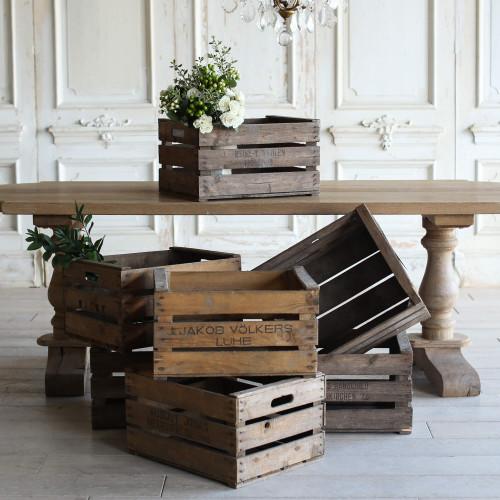 Antique Wooden Market Crates OBVN17144