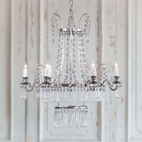 Eloquence® Henrik Chandelier in Silver Finish Full View