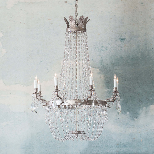 Eloquence® Fontaine Chandelier in Silver Finish