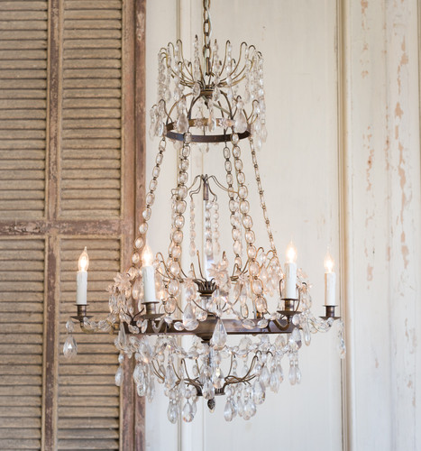 Eloquence® Albertina Chandelier in Burnished Iron