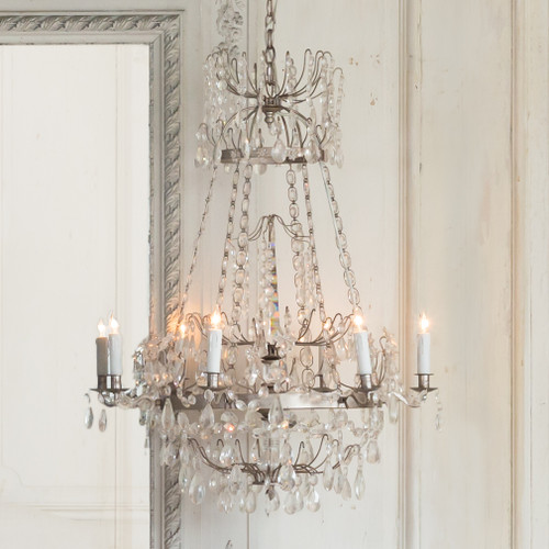 Eloquence® Albertina Chandelier in Silver Finish