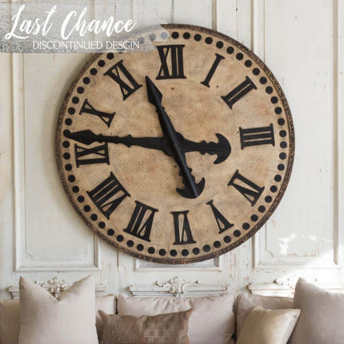 Eloquence® Bruges Town Clock in Rusty Patina Finish