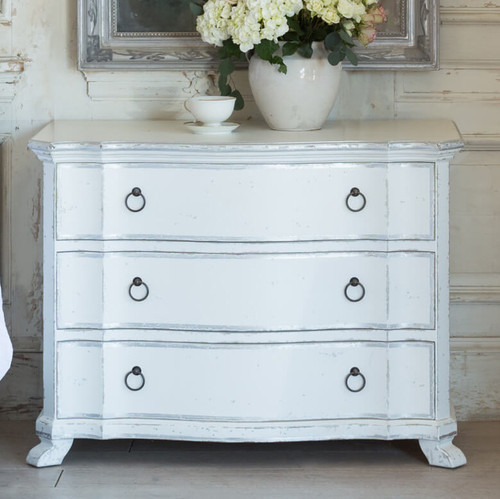 Eloquence® Petite Bordeaux Commode in Silver Two-Tone Finish
