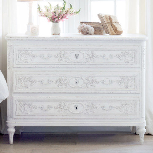 Eloquence® Bronte Commode in Weathered White Finish