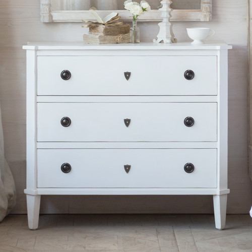Eloquence® Nicolas Commode in Fleur De Sel White Finish