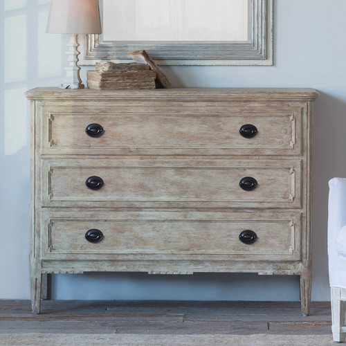 Eloquence® Louis Charles Commode in Oak Driftwood Finish