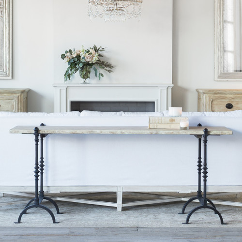 Eloquence® St. Remy Console Table in Farmhouse Oak Finish