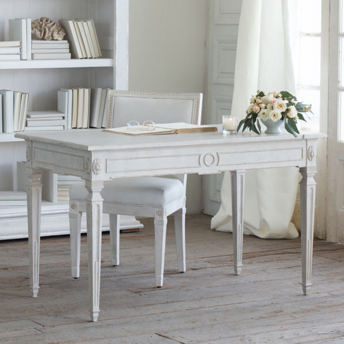 Eloquence® Herra Writing Desk in Gustavian Grey Finish