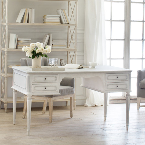 Eloquence® Coco Madame Desk in Silver Highlight Finish