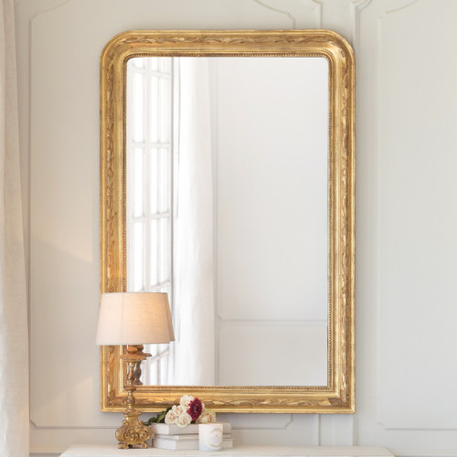 Eloquence® Louis Philippe Mirror in Etched Gold Finish