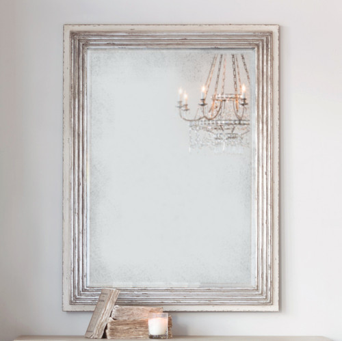 Eloquence® Marcel Panel Mirror in Silver and Stone Finish